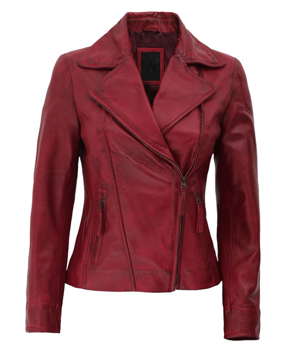 Ramsey Red Slim Fit Leather Jacket