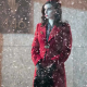 Rooney Mara Nightmare Alley 2021 Molly Wool-blend Trench Red Coat