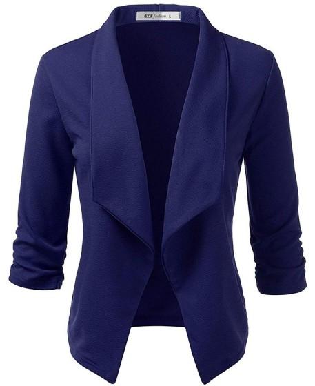 Royal Blue Casual Wool Blazer