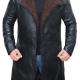 Shearling Black Leather Coat
