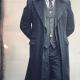 Shelby Vintage Style Black Long Wool Coat