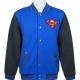 Superman Varsity Blue Logo Wool Jacket
