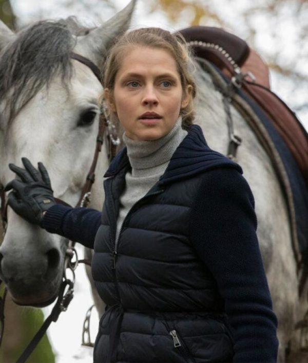 Teresa Palmer A Discoverys of Witches Black Diana Bishop Parachute Jacket