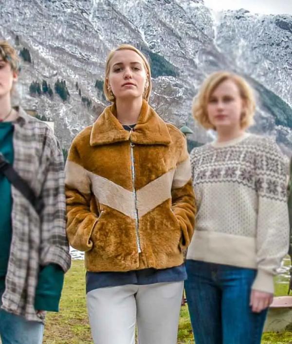 Theresa Frostad Eggesbø TV Series Ragnarok Saxa Faux Fur Jacket