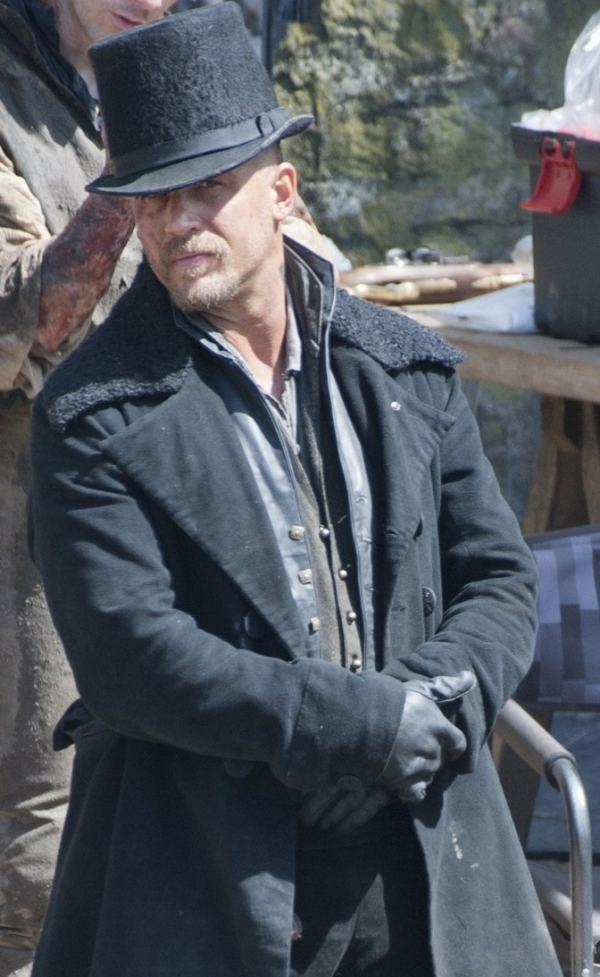 Tom Hardy Taboo Black Shearling Trench Leather Coat