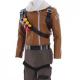 Video Game Fortnite Raptor Fur Collar Leather Jacket