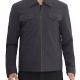 Walters Grey Cotton Lightweight Leather Jacket
