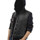Watch Dogs 2 Wrench Black Leather Jacket With Hoodie
