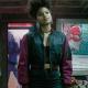 Zazie Beetz Domino Deadpool 2 Bomber Satin Jacket