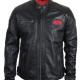 ACDC Black Biker Leather Jacket