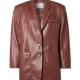 Abbey Clancy Walks The Runway Brown Leather Blazer