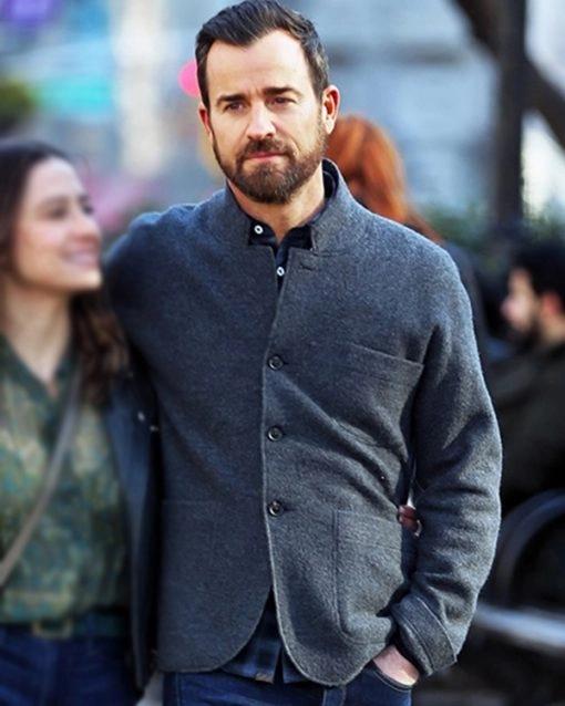 Adrians False Positive 2021 Justin Theroux Grey Wool Blazer