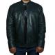 Allaric Alley Green Biker Leather Jacket