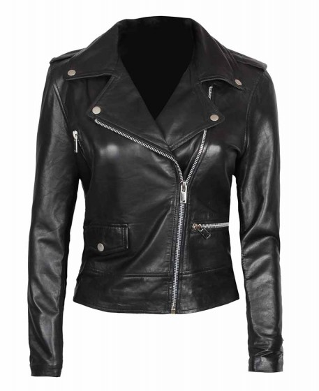 Amber Asymmetrical Leather Jacket