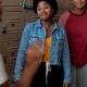 Anjelika Washington Moxie 2021 Amaya Blue Denim Jacket