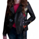 Anna Kendrick As Beca Patch Leather Jacket