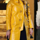Ashleigh A Rainy Day In New York Elle Fanning Leather Coat