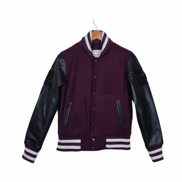 BROWNY Varsity Leather Jacket