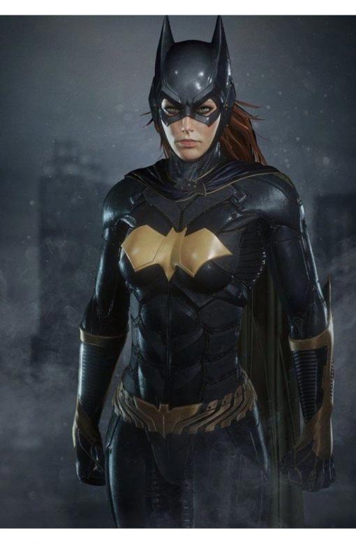 Batgirl The Batman Arkham Knight Black Leather Jacket