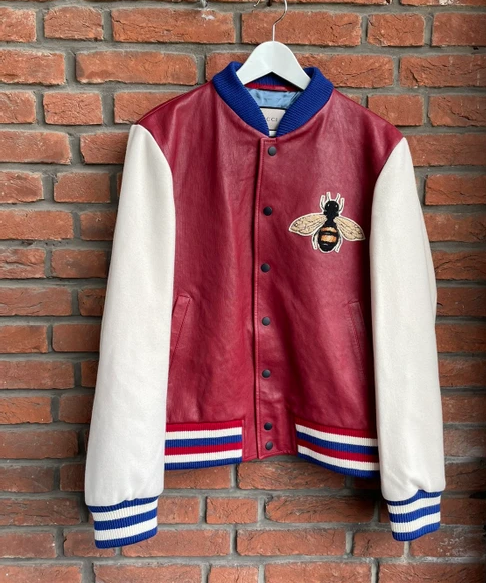 Blind for Love Bee Varsity Leather Jacket