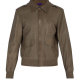 Butter Green Aviator Bomber Leather Jacket