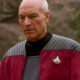 Captain Picard Star Trek Next Generation Red Suede Leather Jacket