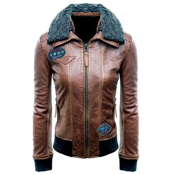 Champion Of Justice Justice League Aviator Brown Leather Jacket