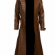 Channing Tatum Gambit Costume Brown Trench Leather Coat