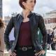 Chyler Leigh Supergirl Alex Danvers Black Leather Jacket