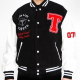 Club Life Tiesto Black and White Varsity Jacket