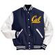David Cal Blue and White Varsity Jacket