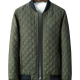 Diamond Quilted Lightweight MA-1 Bomber Green Jacket