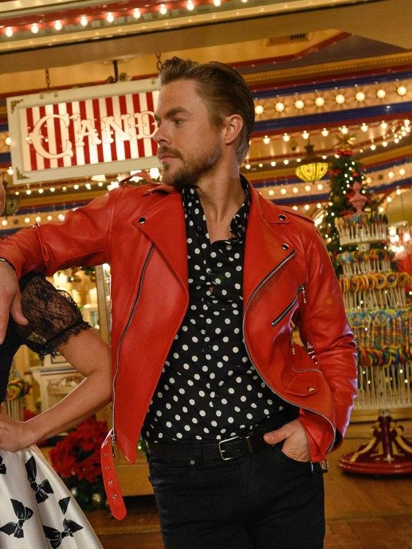 Disney's Magicals Holiday Celebration Derek Hough Leather Jacket