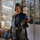 Dodge Twist 2021 Rita Ora Long Sleeveless Black Leather Coat