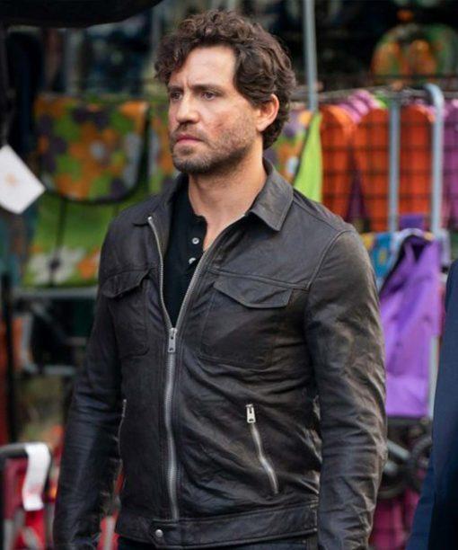 Edgar Ramírez The 355 (2022) Luis Leather Jacket