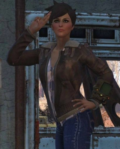 Fallout 76 Tracers Brown Shearling Leather Jacket