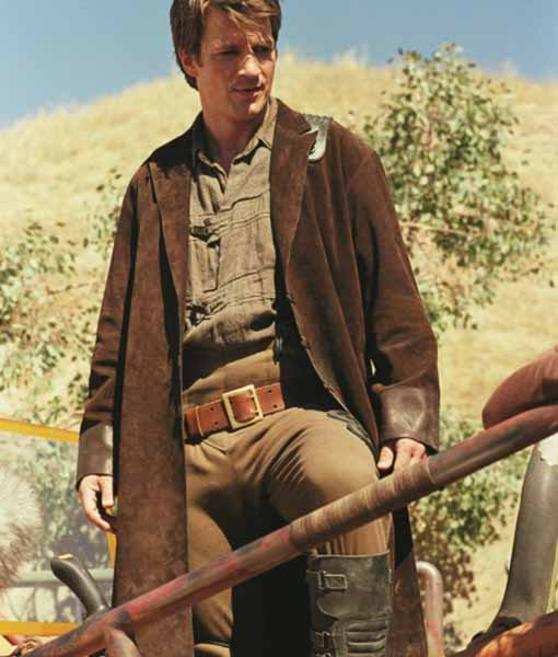 Firefly TV seriess Malcolm Reynolds Suede Leather Coat
