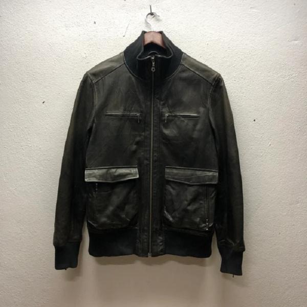 Fr Zip Up Black Bomber Leather Jacket