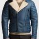 Franklin Blue Biker Leather Jacket