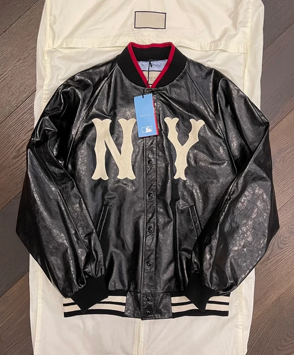 Gucci Bomber Leather Jacket