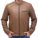 Heavy-duty Brown Bomber Leather Jacket