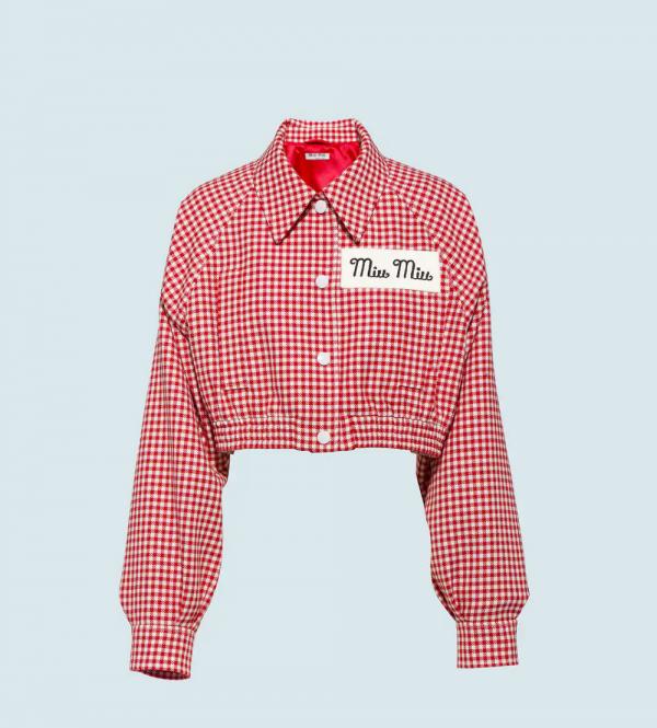High-Class Check Dua Lipa Cotton Jacket