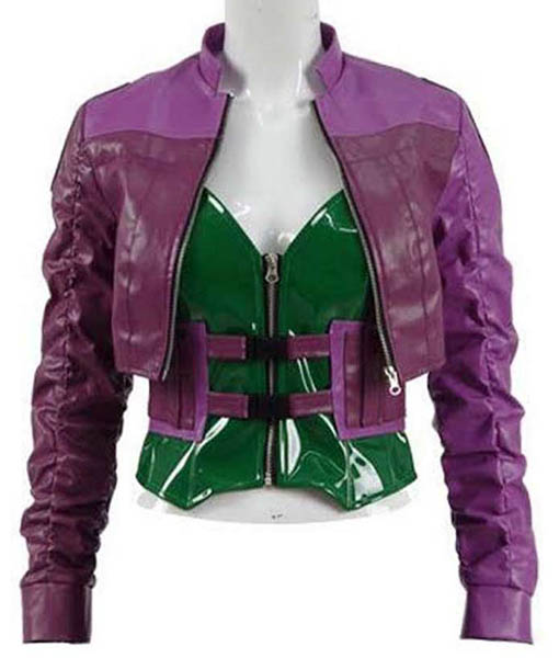 Injustice 2 Harley Quinn Cropped Leather Jacket