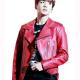 Joe Jungkook Red Leather Jacket