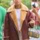 Julien Calloway Gossip Girl TV Series Shearling Leather Jacket