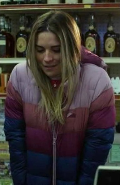 Kevin Can F k Himself Color Block Annie Murphy Puffer Jacket