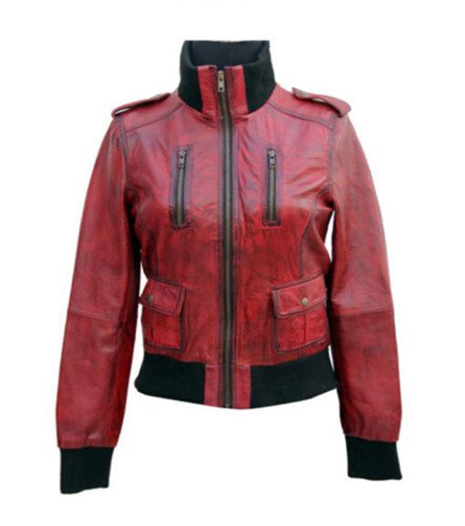Ladies Cosmopolitan Fitted Leather Jacket