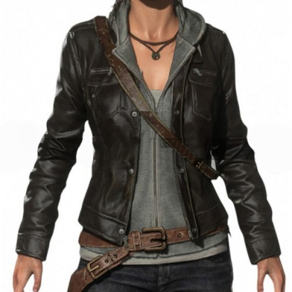 Lara Croft Rises Of The Tomb Raider Game Leather Jacket