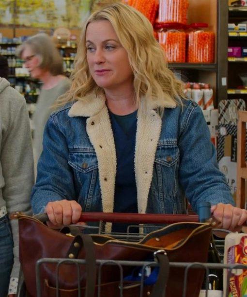 Lisa Moxie 2021 Amy Poehler Blue Denim Jacket