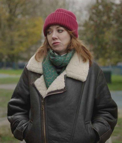 Liz Motherland S03 Diane Morgan Leather Jacket